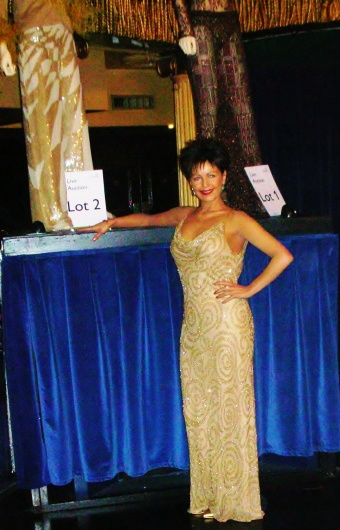 Wearing Dame Shirley's Dress At An Officially Endorsed Dame Shirley Bassey Auction. London