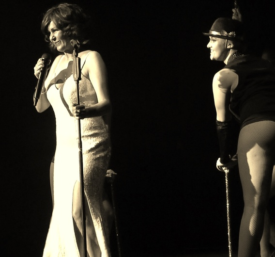 The Girl from Tiger Bay - The Dame Shirley Bassey Story, live theatre shot.